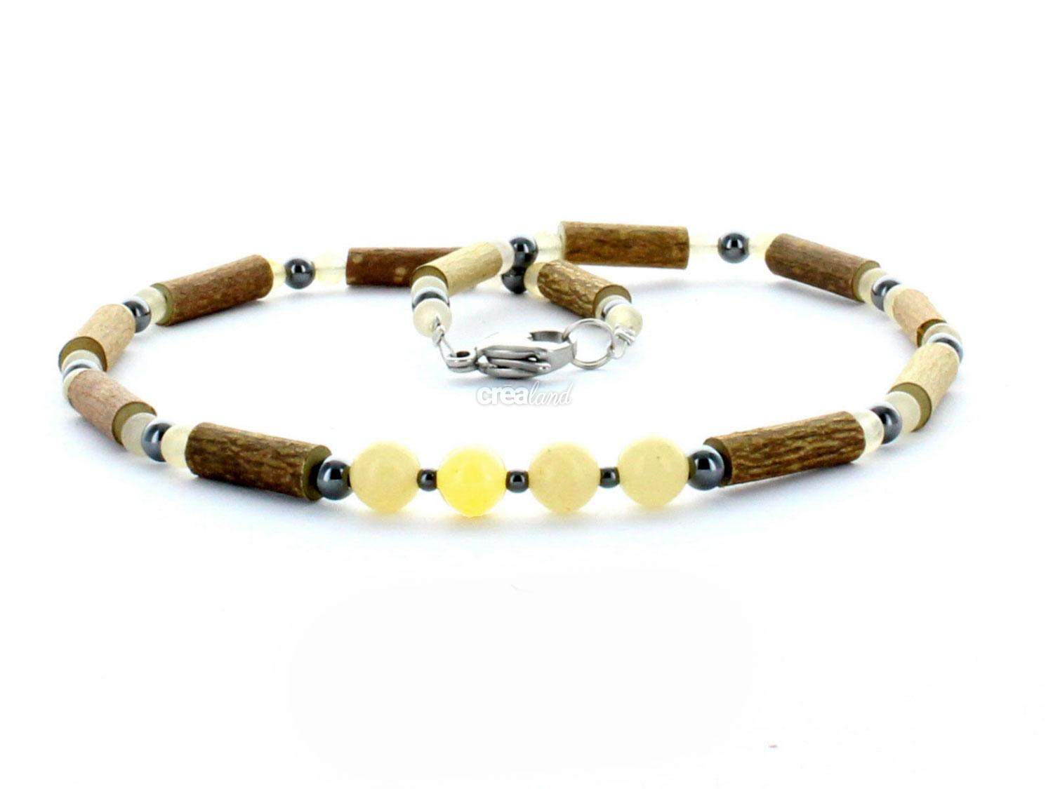 everyday relieve model jaune collier xml noisetier to necklace natural en sore aventurine yellow hematite and hazelwood
