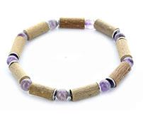 Bracelets en noisetier et pierres naturelles